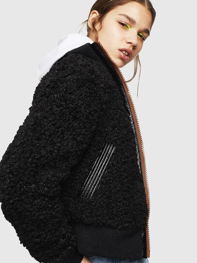 Diesel - L-TOSHA, Black - Leather jackets - Image 3
