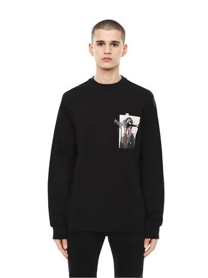 Diesel - SNEILB-DRIPPINGSOLDI, Black - Sweatshirts - Image 1