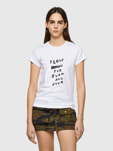 T-shirt with Love for Ever print