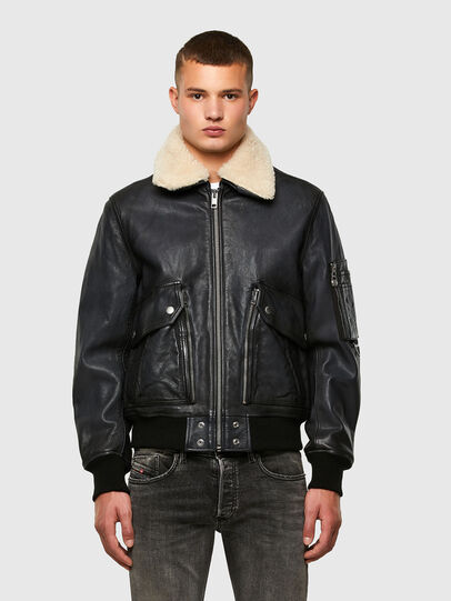 Diesel - L-STEPHEN, Black - Leather jackets - Image 1