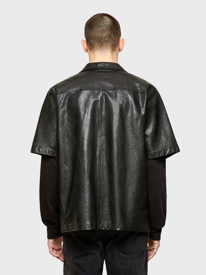 Diesel - S-WOLF-L, Black - Leather jackets - Image 2