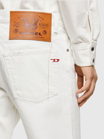 Diesel - D-Fining Tapered Jeans 0HBAJ, White - Jeans - Image 4