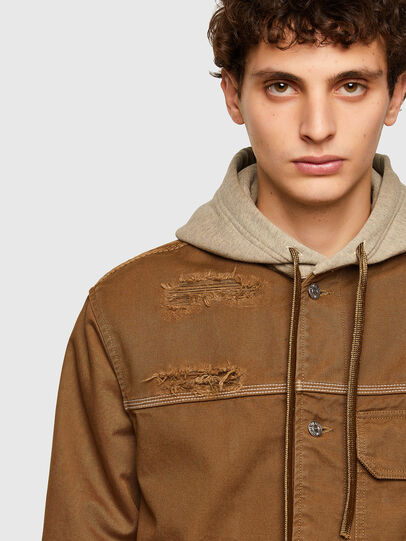 Diesel - J-BRUNO, Brown - Jackets - Image 4