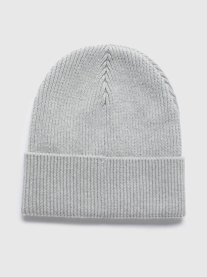 Diesel - K-CODER-F, Light Grey - Knit caps - Image 2