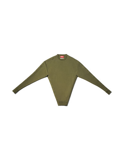 Diesel - GMSW01, Olive Green - Sweater - Image 1