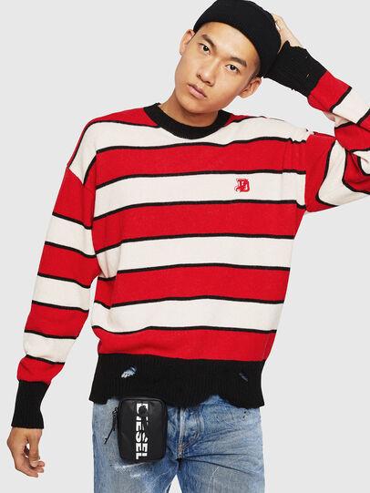 Diesel - K-LOVERY, Red/White - Sweaters - Image 7