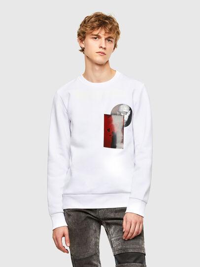 Diesel - S-ARGON-A, White - Sweatshirts - Image 1