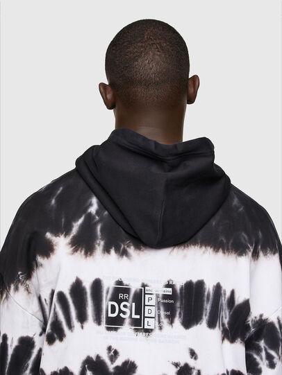 Diesel - S-UMMER-A83, Black/White - Sweatshirts - Image 3