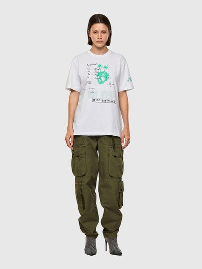 Diesel - T-JUST-B61, Blanco - Camisetas - Image 8