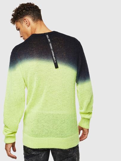 Diesel - K-TREAT, Yellow Fluo - Sweaters - Image 2