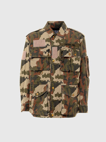 Jacket in camouflage cotton twill