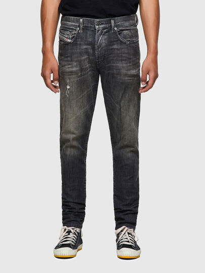 Diesel - D-Strukt Slim JoggJeans® 09B54, Black/Dark Grey - Jeans - Image 1