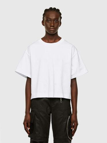 Camiseta de corte cuadrado en algodón mercerizado