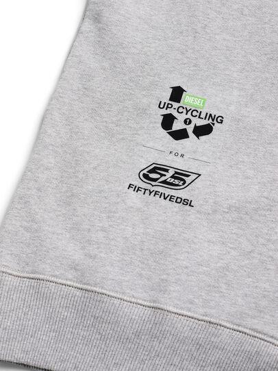 Diesel - D-HALF&HALF, Grey - Sweatshirts - Image 5