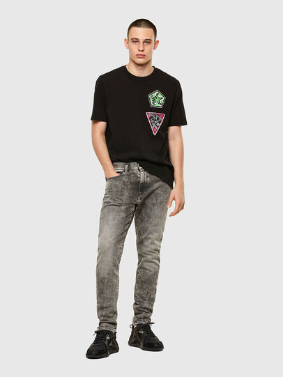 Diesel - T-JUBIND-SLITS-E1, Black - T-Shirts - Image 4