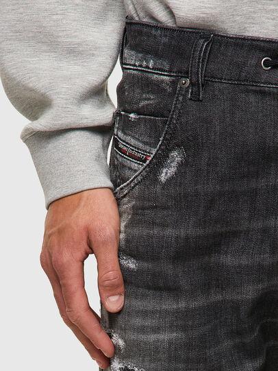 Diesel - Krooley Tapered JoggJeans® 09B53, Black/Dark Grey - Jeans - Image 4
