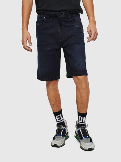 Diesel - D-WILLOH CB JOGGJEANS, Dark Blue - Shorts - Image 1