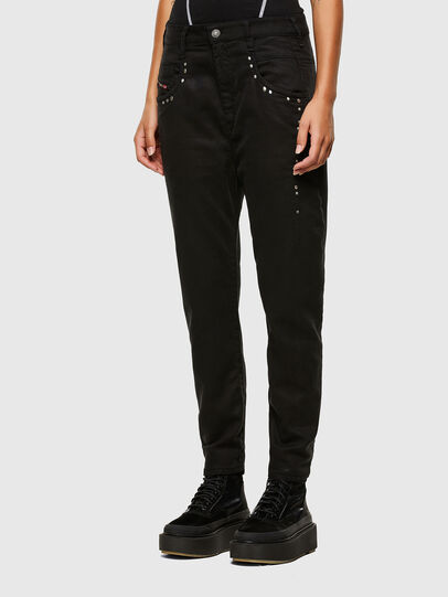Diesel - Fayza JoggJeans 069NC, Black/Dark Grey - Jeans - Image 5