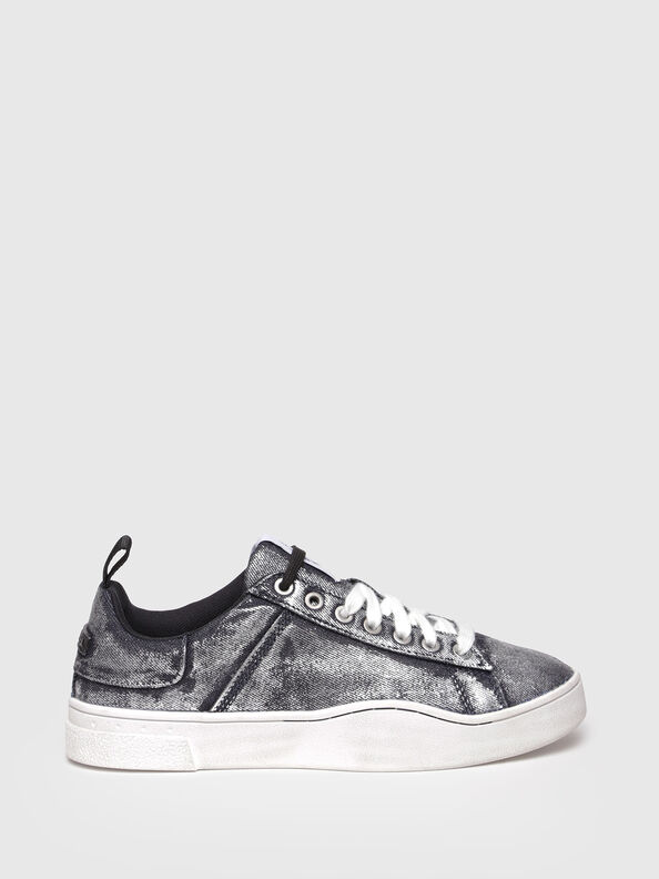 S-CLEVER LOW W, Grey Jeans - Sneakers