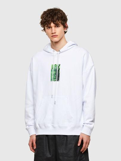 Diesel - S-UMMER-E1, White - Sweatshirts - Image 1