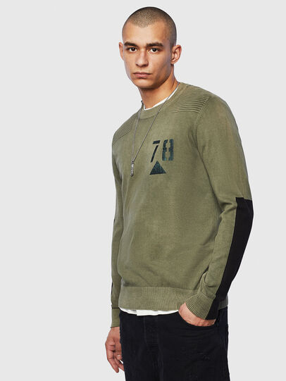 Diesel - K-PACHY, Military Green - Sweaters - Image 1