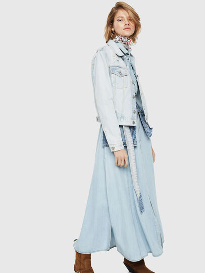 Diesel - DE-VELVET, Blue Jeans - Denim Jackets - Image 3