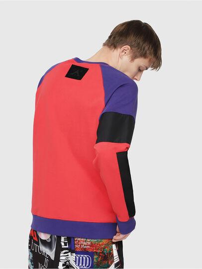 Diesel - S-GIM-BLOCK, Red/Black - Sweatshirts - Image 2