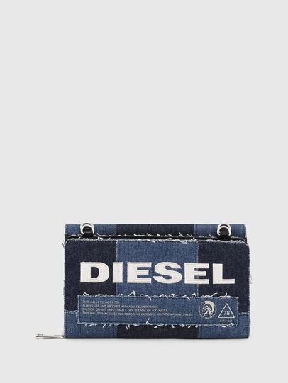 Diesel - DUPLET LCLT, Blue - Zip-Round Wallets - Image 1