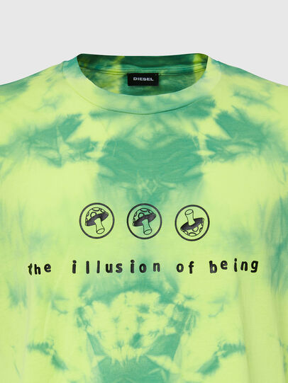 Diesel - T-JUST-SLITS-X86, Green/Yellow - T-Shirts - Image 3