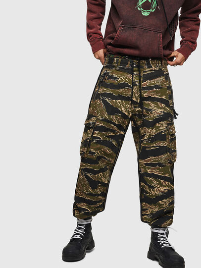 Diesel - P-LUZAVIC-TIGERCAM, Military Green - Pants - Image 1