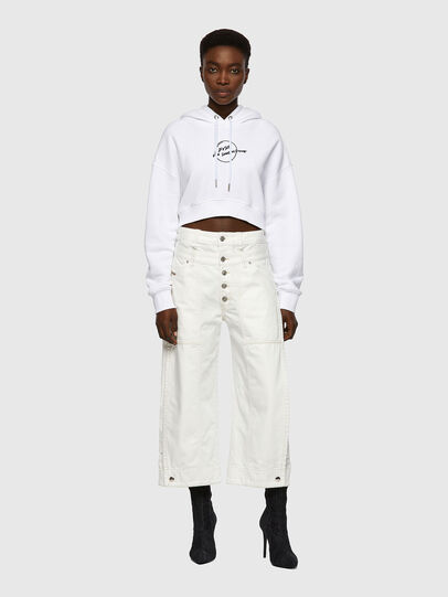 Diesel - D-Laly Wide Jeans 0HDAI, White - Jeans - Image 5
