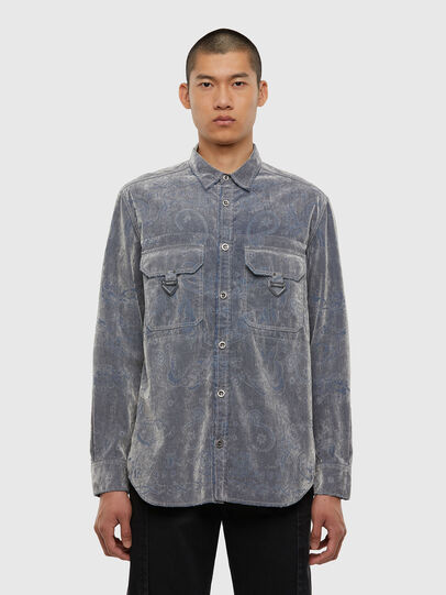 Diesel - D-RONNY, Grey - Denim Shirts - Image 1