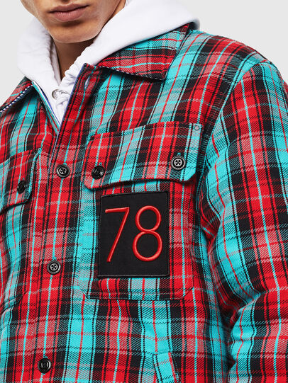 Diesel - S-JOHNS, Green/Red - Shirts - Image 5