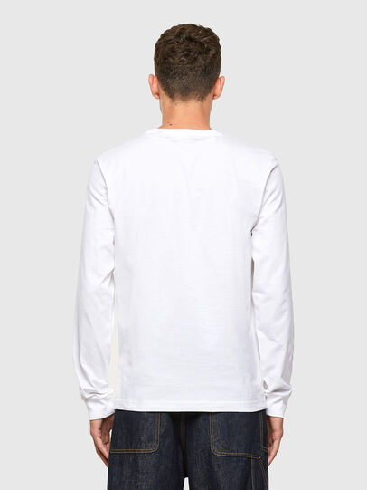 Diesel - T-JUST-LS-X41, White - T-Shirts - Image 2