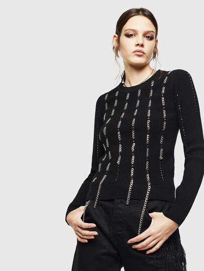 Diesel - M-LYV, Black - Sweaters - Image 1