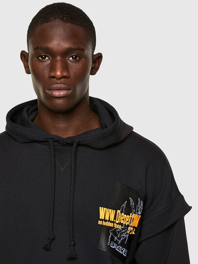 Diesel - S-UBBER, Black - Sweatshirts - Image 3