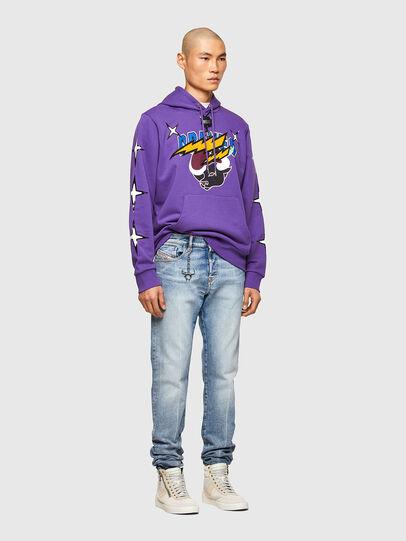 Diesel - CL-S-GIRK-HOOD-O1, Violet - Sweatshirts - Image 7