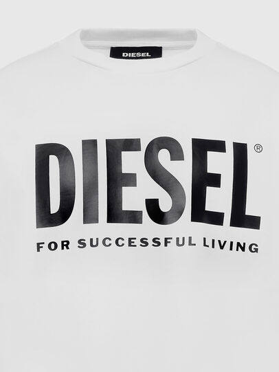 Diesel - S-GIR-DIVISION-LOGO, White - Sweatshirts - Image 3