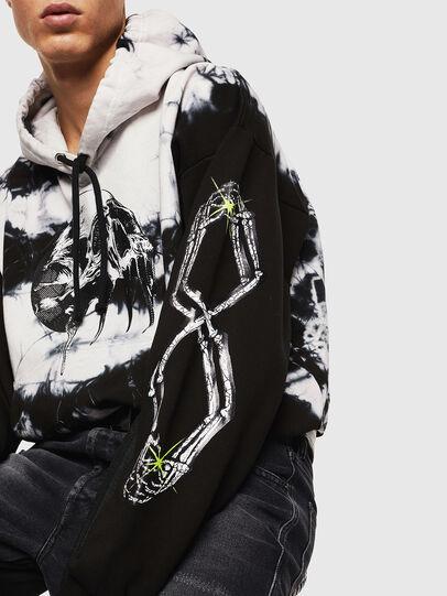 Diesel - S-ALBY-Y, Black/White - Sweatshirts - Image 7