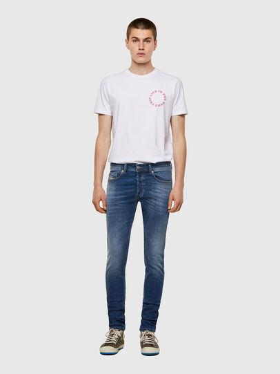 Diesel - Sleenker Skinny Jeans 09A60, Medium Blue - Jeans - Image 5