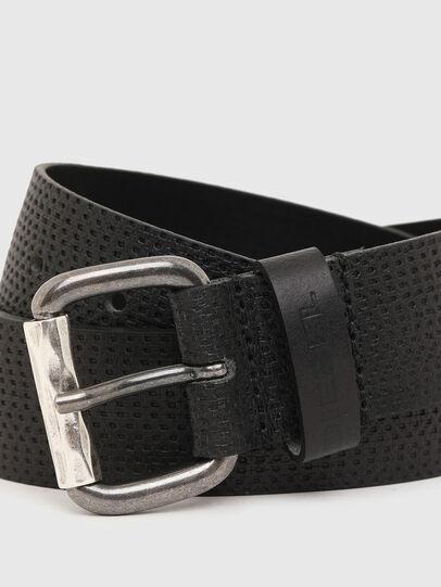 Diesel - B-ROLLY, Black Leather - Belts - Image 2