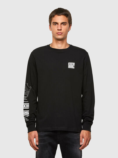 Diesel - T-JUST-LS-N61, Black - T-Shirts - Image 1