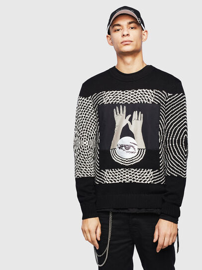 Diesel - K-OCCHY, Black - Sweaters - Image 1