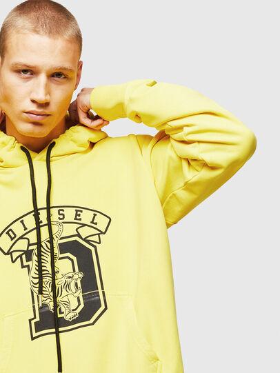 Diesel - S-ALBY-B8, Yellow - Sweatshirts - Image 3