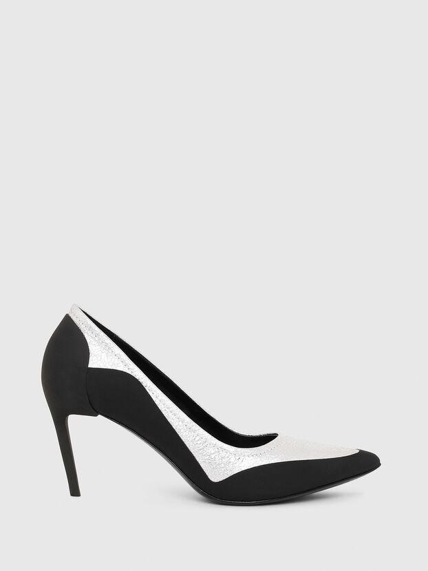 D-SLANTY MHB, Black/White - Heels