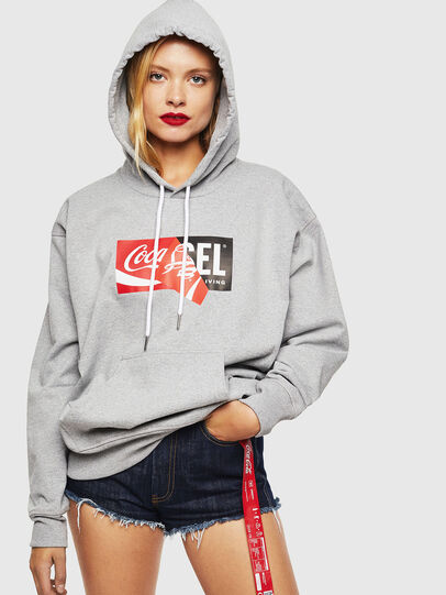 Diesel - CC-S-ALBY-COLA, Grey - Sweatshirts - Image 2