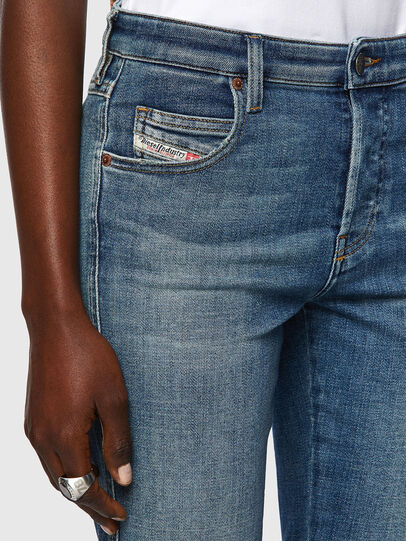 Diesel - Babhila Slim Jeans 09A01, Medium Blue - Jeans - Image 4