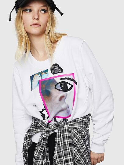 Diesel - F-LYANYDY-B, White - Sweatshirts - Image 3