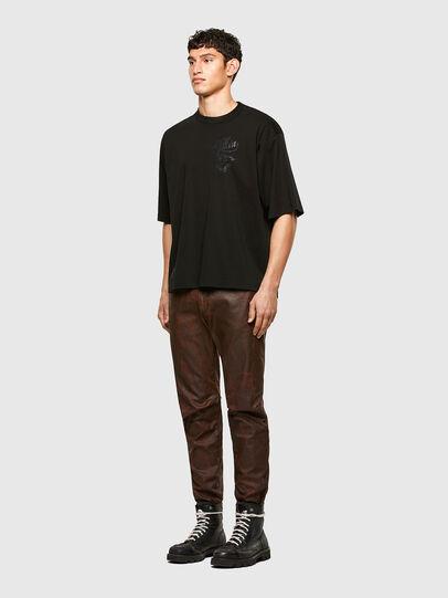 Diesel - T-DELPHI-SLITS-A1, Black - T-Shirts - Image 5