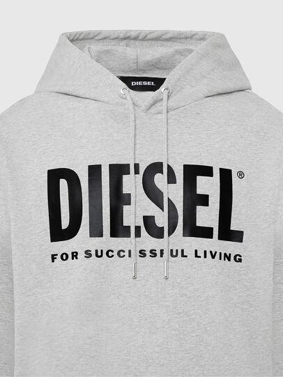 Diesel - S-GIR-HOOD-DIVISION-, Light Grey - Sweatshirts - Image 3